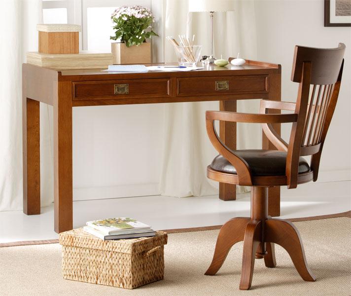 Mesa de escritorio colonial zen no disponible en - Escritorios rusticos de madera ...