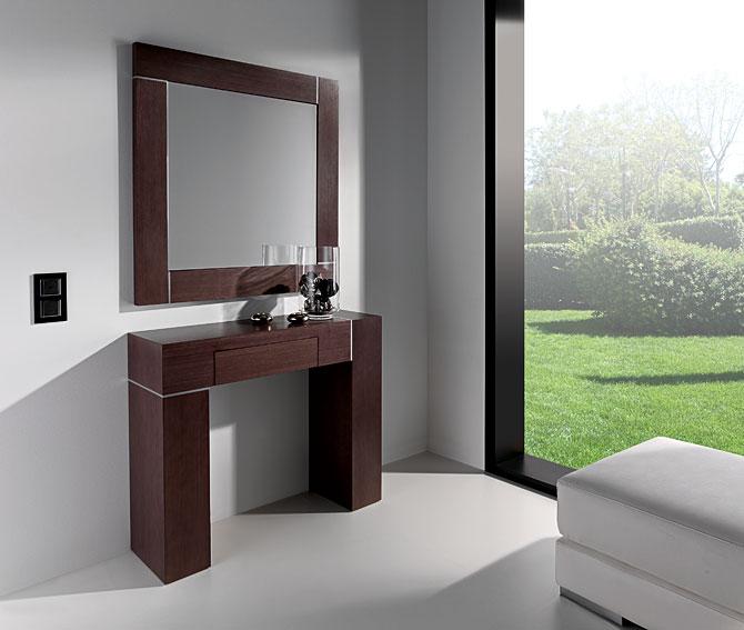 Decoracion mueble sofa muebles con espejo for Espejos rectangulares plateados