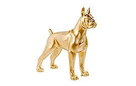 Perro oro decorativo Kare