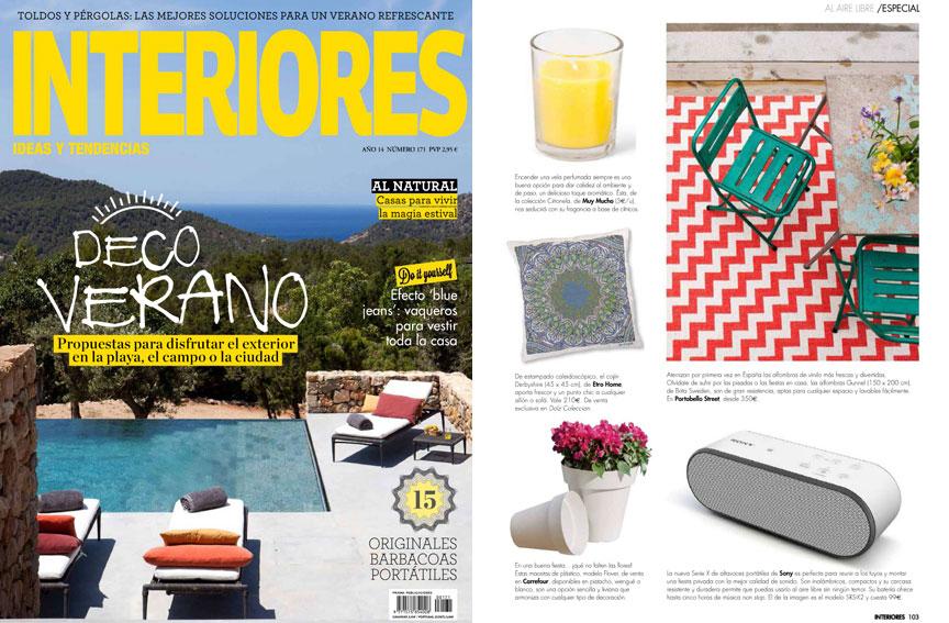 Revista Interiores - Julio 2014 Portada y P�gina 103
