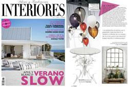 Revista Interiores - Julio 2015 Portada y P�gina 54
