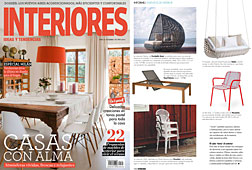 Revista Interiores - Junio 2014 Portada y P�gina 110
