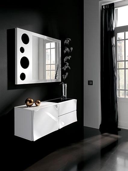 Consola y espejo iris conjunto no disponible en for Espejos para entrada modernos