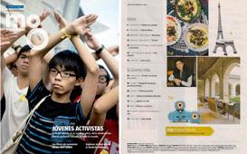 Revista Magazine La Vanguardia - Diciembre 2014 Portada y P�gina 3