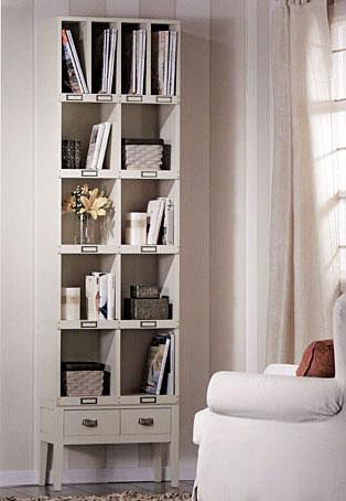 Librer a coloniales francesa alta blanca en - Librerias salon blancas ...