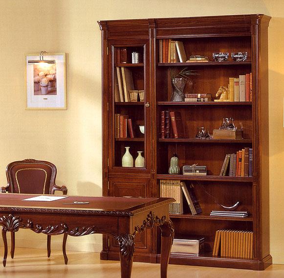 Libreria con vitrina canadian en for Libros de muebles de madera