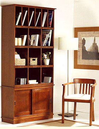Librero colonial frances en - Libreros de madera modernos ...