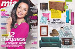 Revista Mia - Noviembre 2014 Portada y P�gina 8