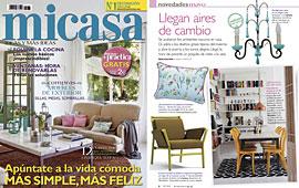 Revista MiCasa - Mayo 2014 Portada y P�gina 8