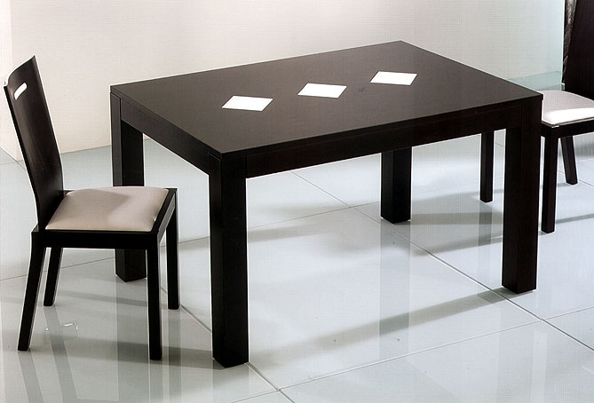 mesa comedor extensible negra no disponible en