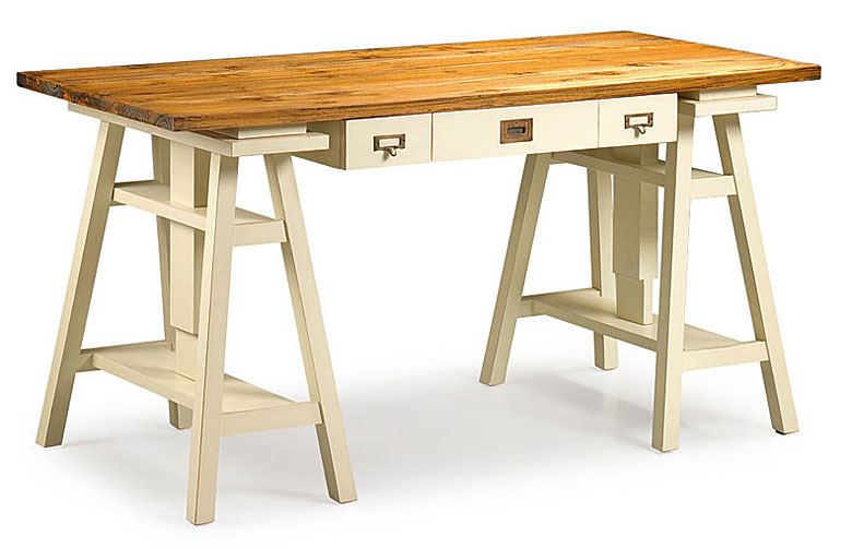 Mesa Escritorio Tapa Madera Reciclada No Disponible En