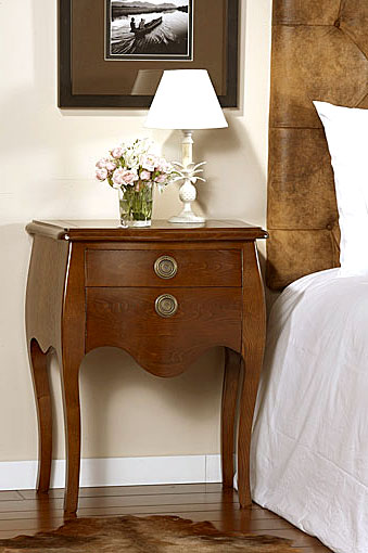 Mesa de noche moderna versalles en for Mesas de noche de madera