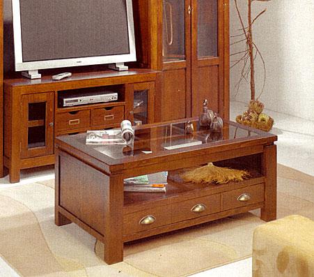 Mesa de centro 1 caj n reversible no disponible en for Mesas auxiliares elevables