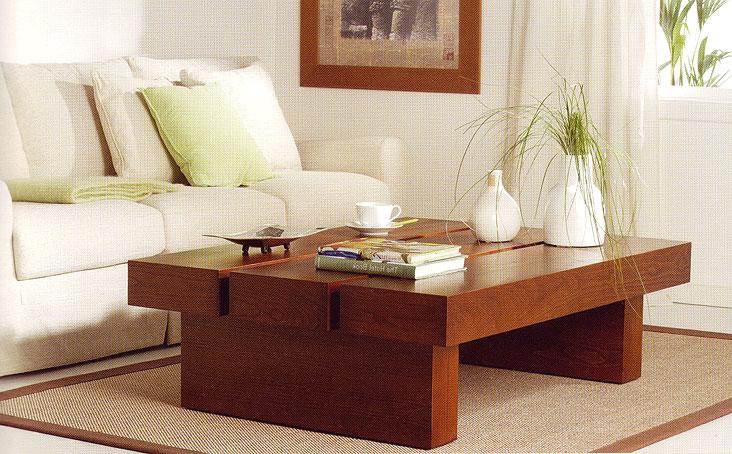 Mesa de centro colonial minimal en for Mesas auxiliares para sala modernas