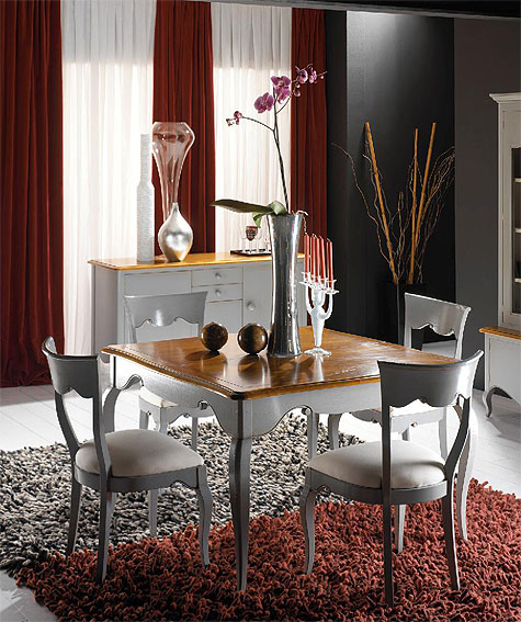 Mesa comedor extensible vintage cassis no disponible en for Mesa cuadrada extensible
