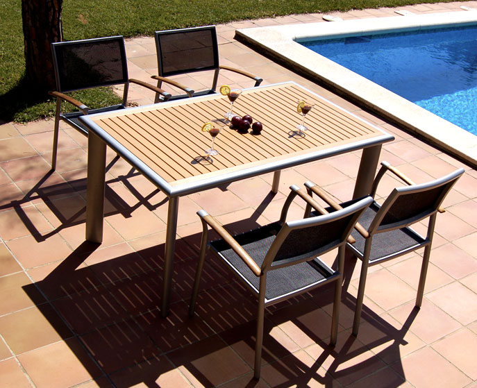 Pack mesa comedor jardin 4 sillones no disponible en for Mesas de resina para jardin