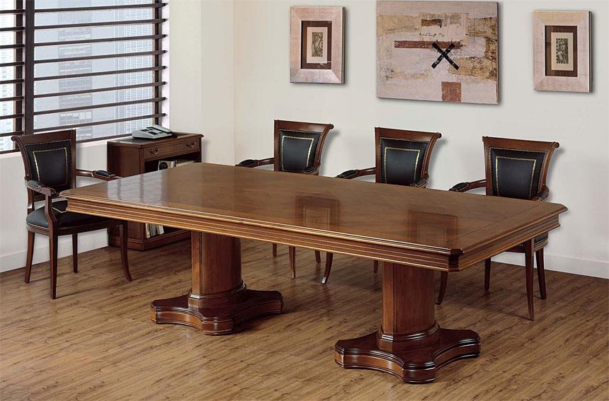 Mesa de juntas bana en for Mesas auxiliares clasicas