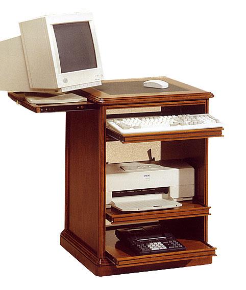 Mesa de ordenador estrecha cl sica en for Mesas pequenas ordenador