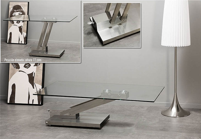 Mesa de centro convertible en mesa de comedor moderna - Centros de mesa comedor ...