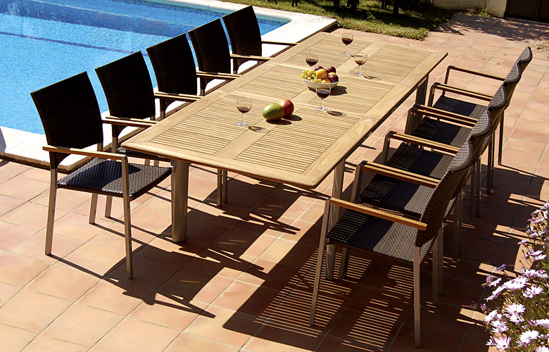 Mesa de comedor palma extensible de jardin no disponible for Comedor para jardin