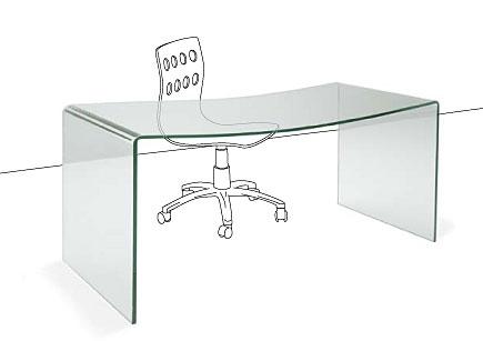 Mesa de escritorio moderna spicatum no disponible en for Mesa escritorio cristal