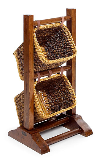 Mueble auxiliar rattán combinable Colonial 2 cestas