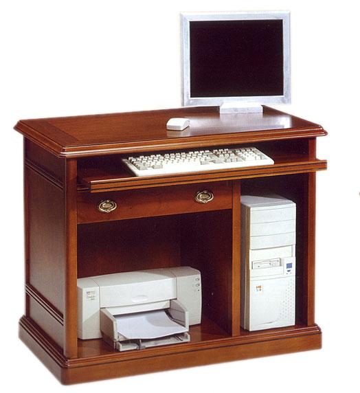 mueble de ordenador e impresora en