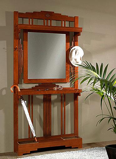 Paraguero art nouveau con espejo no disponible en for Mueble perchero recibidor