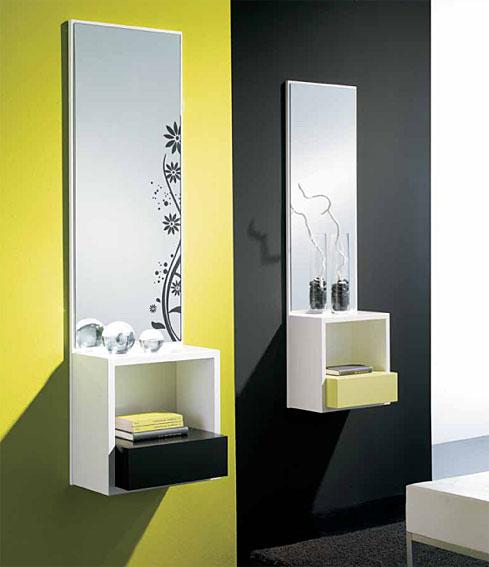 Espejos modernos para recibidor espejos cuadrados herdasa for Espejos modernos baratos