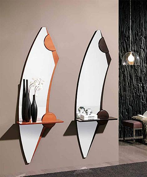 Recibidor con espejo likewood no disponible en for Espejos de diseno para recibidor
