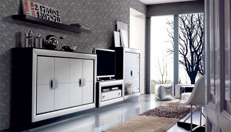 Aparador vitrina y mueble tv berl n no disponible en for Vitrinas modernas para salon