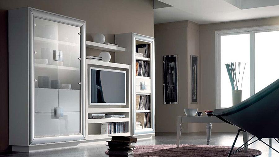 Mueble de tv librer a y vitrina berl n no disponible en - Mueble libreria para salon ...