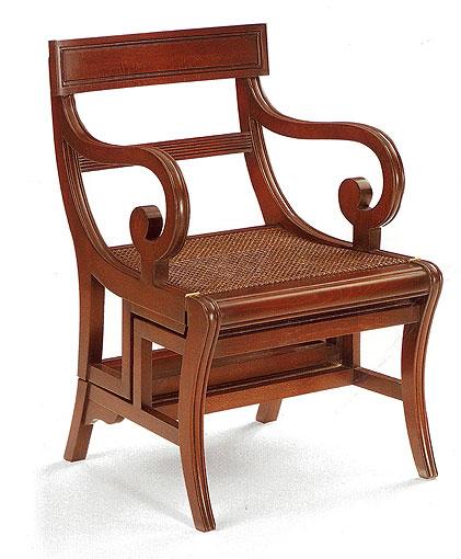 Muebles Martin Peñasco:  Sillón Escalera Casandra - Butacas y Orejeros Clásicos - Muebles Clásicos