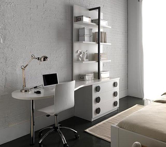 Escritorio y estanter a c rculos white gray no disponible - Estanterias para escritorios ...