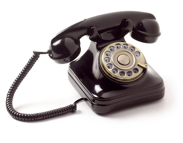 Teléfono Antiguo Negro Europa No Disponible En