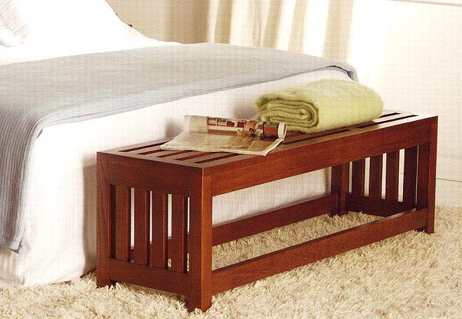 Taburete coloniales zen no disponible en for Taburete pie de cama