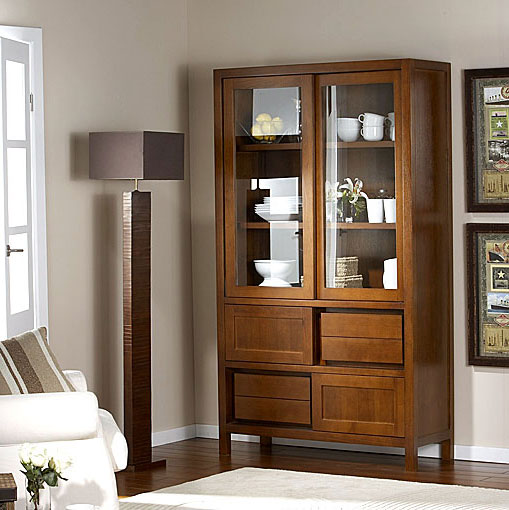 Vitrina colonial four seasons no disponible en - Muebles vitrinas para comedor ...