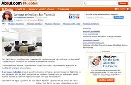 Camas redondas con Portobello en muebles.about.com - Enero 2014