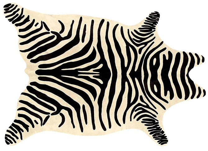 Alfombra zebra materiales de construcci n para la reparaci n for Tapicerias castano