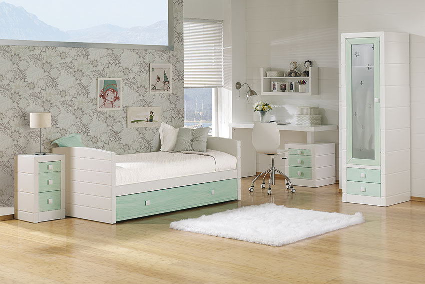 Dormitorio montblanch azul verdoso en for Decoracion jysk