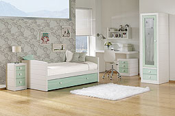 Dormitorio montblanch Azul Verdoso