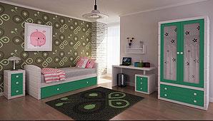 Dormitorio montblanch Verde