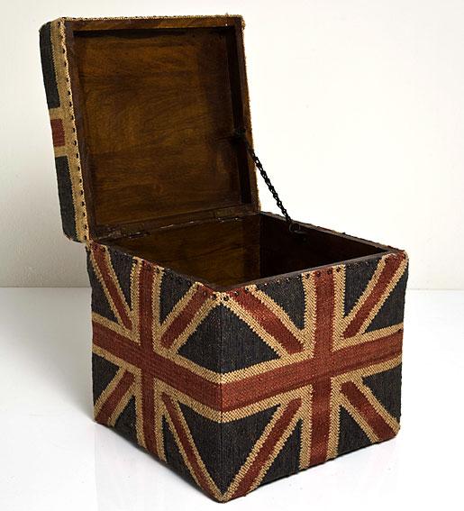 Muebles Martin Peñasco Interiorismo:  Baúl cuadrado british jute - Muebles Auxiliares Vintage - Muebles de Estilo Vintage