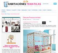 Cama para princesas con dosel en habitacionestematicas.com - Abril 2014