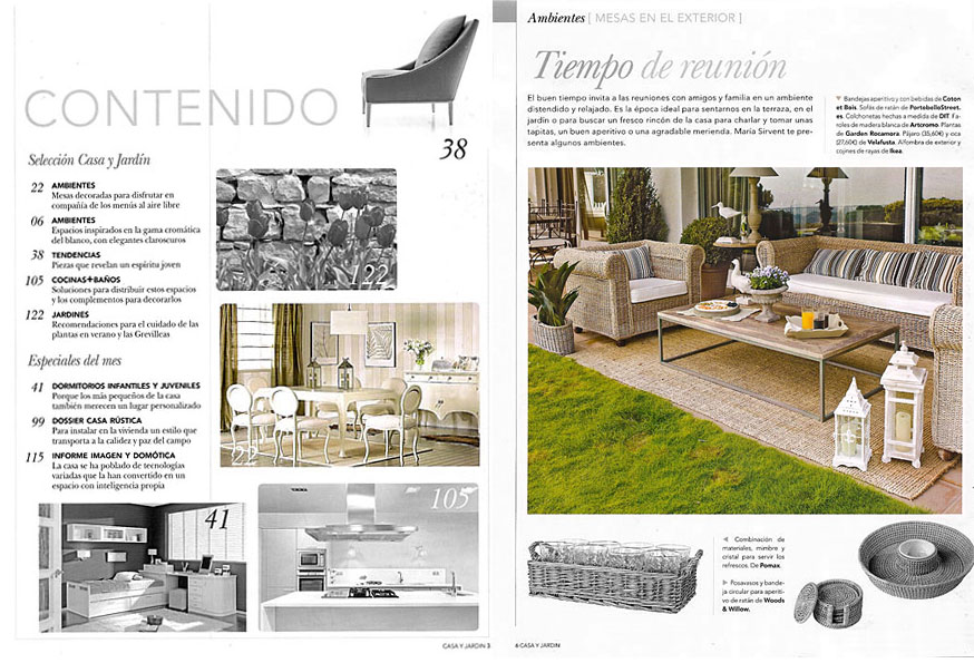 En revista casa y jard n julio 2010 for Casa jardin revista