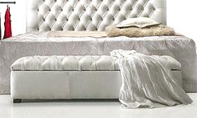Baul capitone piel casual - Baules Coloniales y Rústicos - Muebles Coloniales y Muebles Rústicos