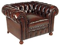 Selecci�n de muebles en cuero marr�n