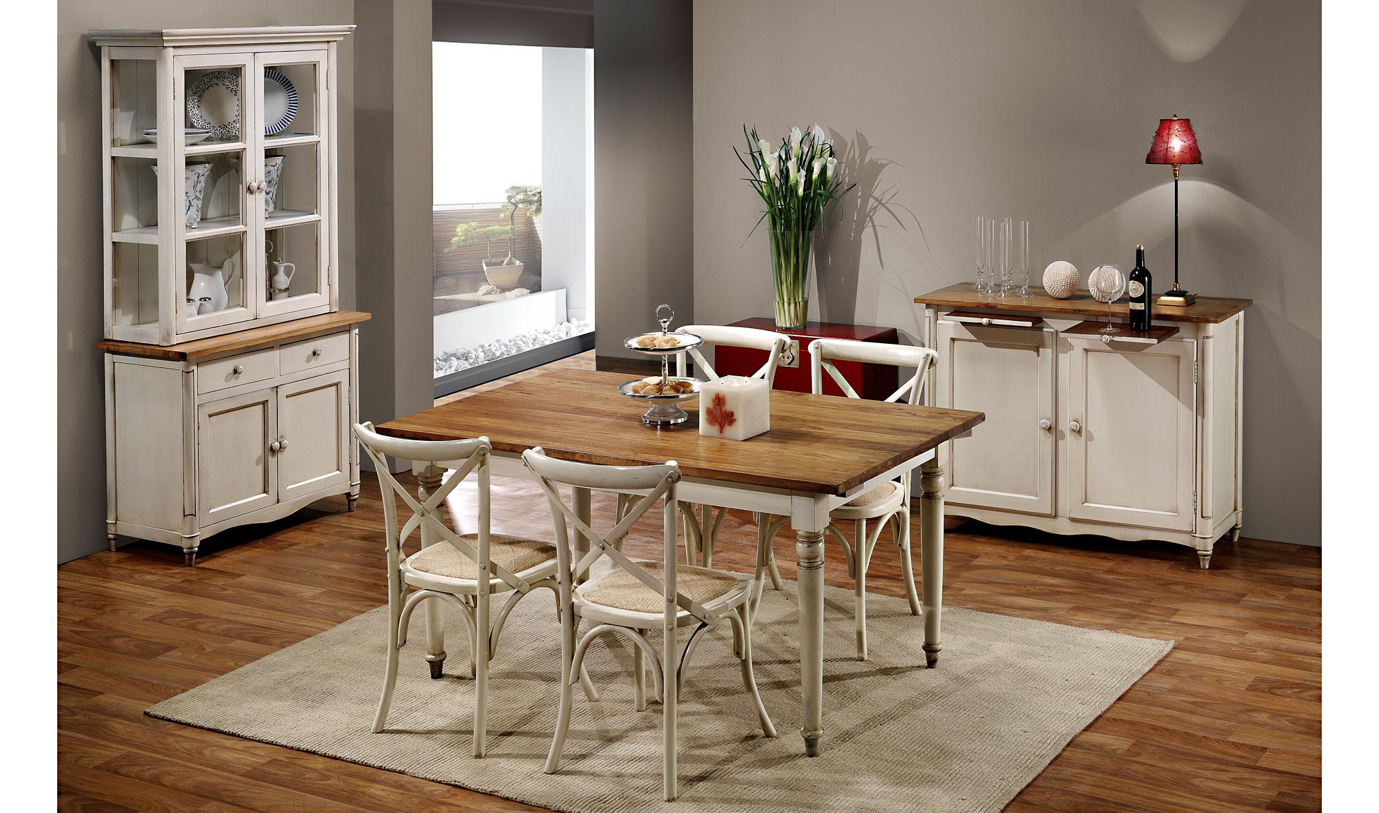 Comedor vintage montpellier ii en for Muebles comedor madera