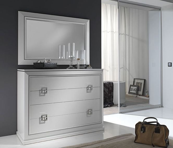 C moda y espejo selene lacado en blanco no disponible en for Espejos para comodas