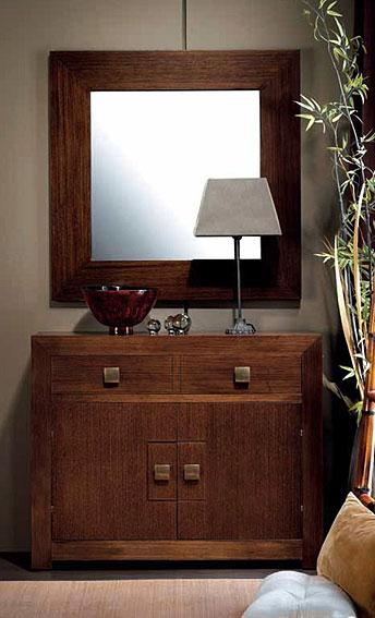Mueble de entrada 2 puertas colonial hebea en - Muebles de entrada pequenos ...